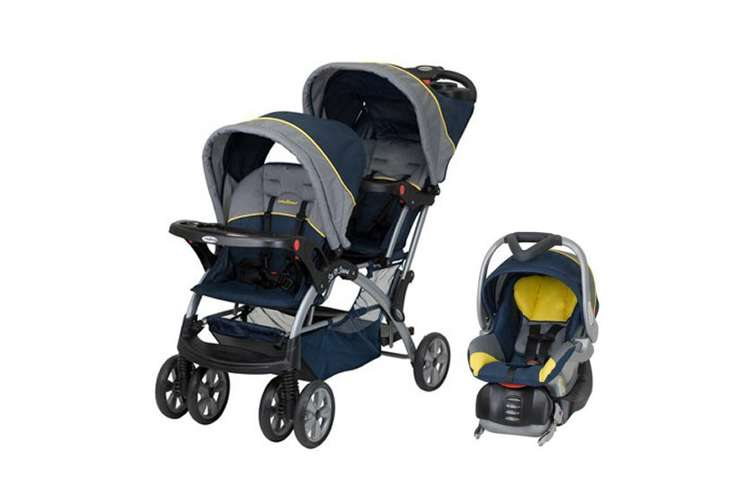 SS76553 + CS31553�Baby Trend Sit N Stand Double Baby Stroller & Car Seat Travel System - Riveria