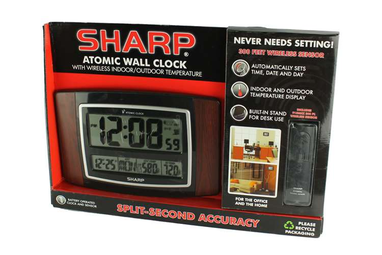 Sharp Spc900wg Digital Atomic Wall Clock W Wireless
