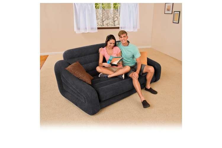 Intex Queen Inflatable Pull Out Sofa Air Mattress