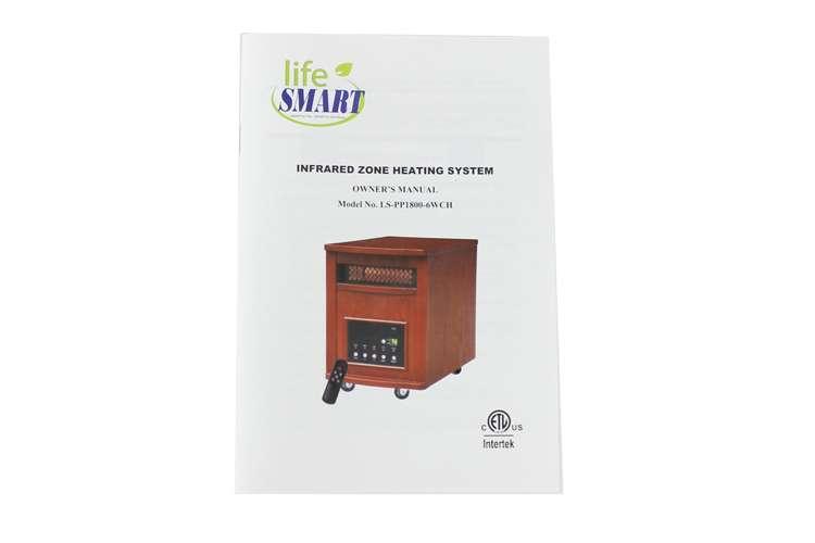 LS-PP1800-6WCH�LifeSmart 1500W Plus Infrared Quartz Heater | LS-PP1800-6WCH