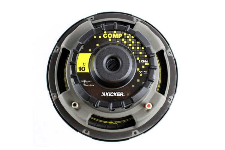 10C102�Kicker C10 10-Inch 300W Single 2-Ohm Comp Series Subwoofer