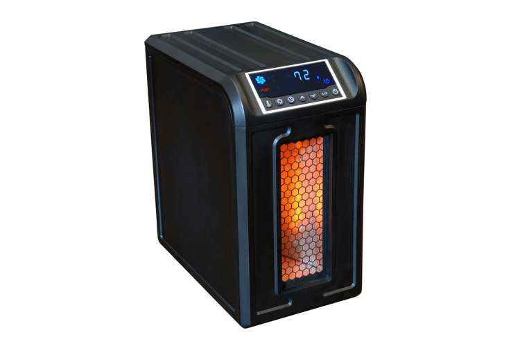 LS-ZCHT1061US-2�LifeSmart Low-Profile Infrared Portable Heater (Black) | LS-3ECO