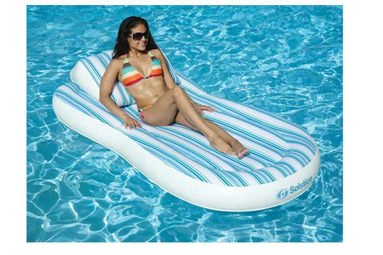 NT1350�Solstice Pillow Top Floating Swimming Pool Mattress with Pump