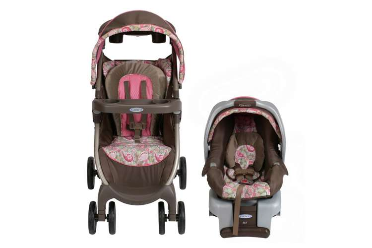 7AB01JAC3�Graco FastAction Baby Stroller & SnugRide 30 Infant Car Seat Travel System