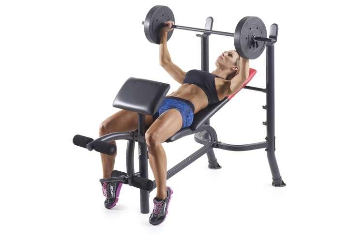 Weider Pro 265 Bench Press Home Gym Set 15963