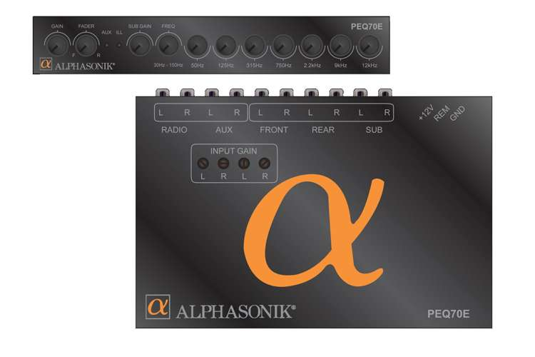 PEQ70E�Alphasonik PEQ70E 7 Band in Dash Parametric Equalizer