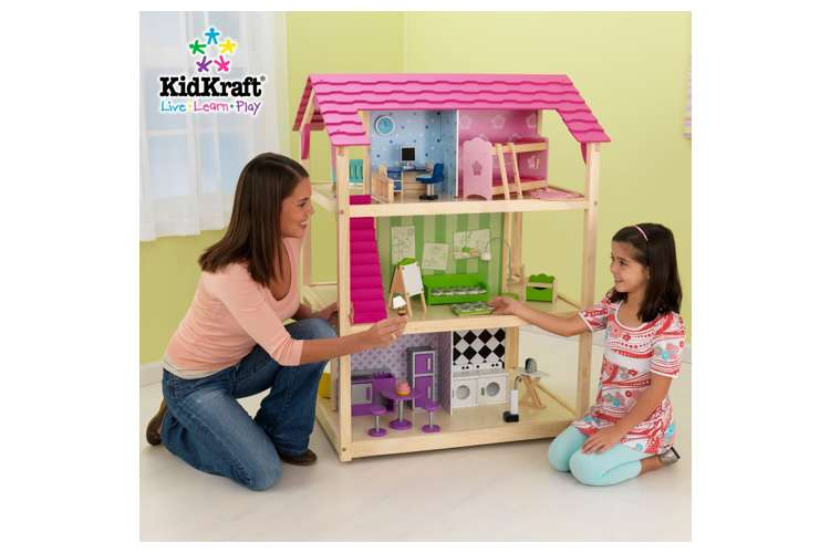 65078�KidKraft So Chic Deluxe Pretend Play Dollhouse